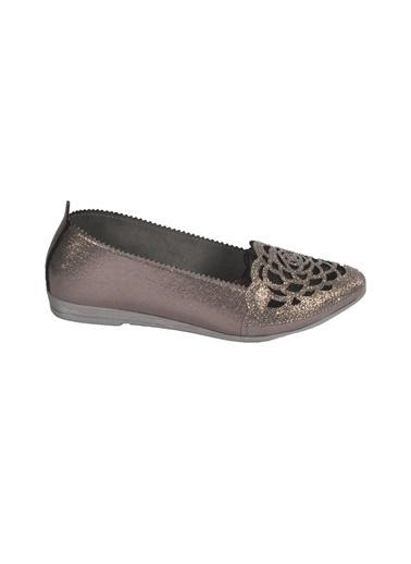 Mhd 2126 Platin Kadın Günlük Ayakkabı Gümüş